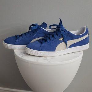 Blue Suede Puma Sneakers